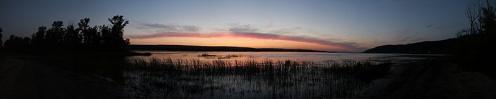 Вид заката над Волгой, Жигулями с острова Середыш. Фото Лумир Кус