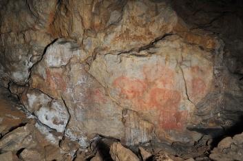 Палеолитическая живопись. Фото А. Юшко